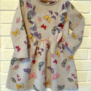 Carter's- Toddler Girl Butterfly Ruffle Dress